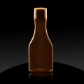 Plastic bottle PET 50 ml Ambra brown Isola